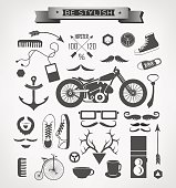 Hipster style elements, icon and object can be used for