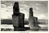 Ancient Egyptian Colossal States at Thebes