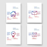 Bold simple line icon infographic template design