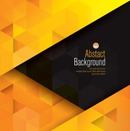 Yellow and black abstract background vector.