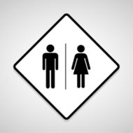 Vector a man and a lady toilet sign, Illustration EPS10