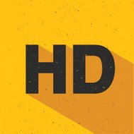 HD design on yellow background,vector
