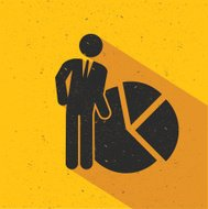 Human resource design on yellow background,vector