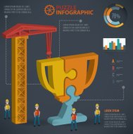Trophy info graphic design,three dimension,vector