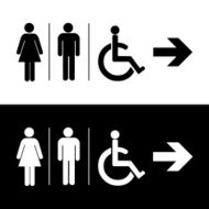 Man and lady toilet sign, Vector illustration EPS10