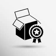PREMIUM box packing vector design isolated icon