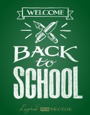 Back to school. Lettering on chalkboard