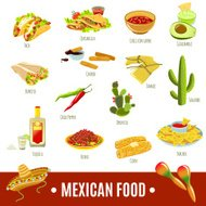 Cuisine mexicaine Icon Set