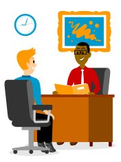 Young Man Getting A Job Interview Clipart