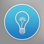 Light bulb design on blue button background,vector