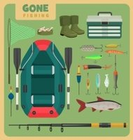Fishing equipment set