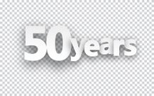 Fifty years paper sign