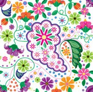 Multi Colored Paisley, Seamless Pattern, ready to use