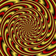 Colorful abstract hypnotic colorful tunnel