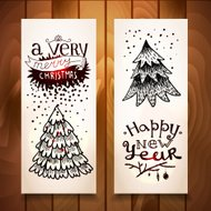 New Year vertical banners