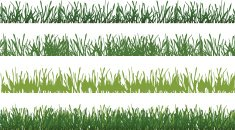 Vector Grass in Layers