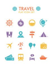 Vector Flat Icon Set - Travel