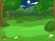 Forest cartoon educational game vector llustration