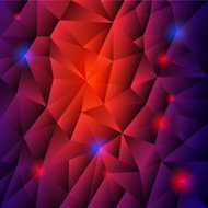 abstract background with red triangles and blue