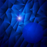 abstract background with blue triangles