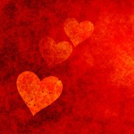 Grungy Red Hearts