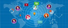 social network media interconnected people around the world