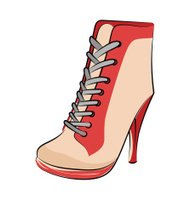 Sneaker Wedges Sketchy Colored Vector Icon