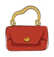 Hand Bag Hand Drawn Colored Vector Icon