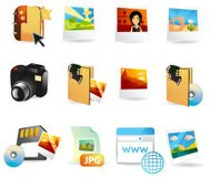 Photography & Tourism Web Icons