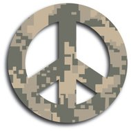 Desert Camouflage Peace Sign