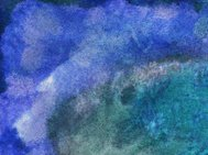 Dark blue and green hand painted background