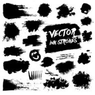 Vector grunge messy vector stains