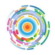 abstract background color wheel