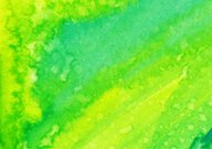 Bright colored green and yellow hand painted background