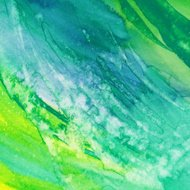 Colorful brush strokes hand painted with watercolor and ink