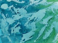 hand painted background with shades of green and blue