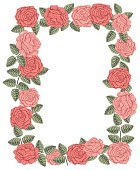 Vintage vector vertical invitation card. Colorful leaves and roses.