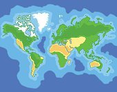 Fun Cartoon Map of the world