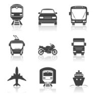Simple transport icons set