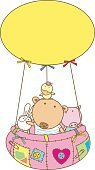 balloon and cute animal friends