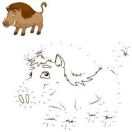 Connect the dots to draw the animal educational game
