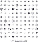 Hundred snowflakes