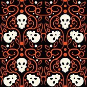 Halloween Skull Seamless Pattern