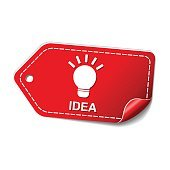 Idea Red Vector Icon Design