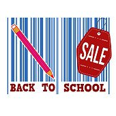Back to school sale barcode