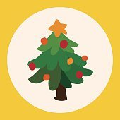Christmas tree flat icon elements background,eps10