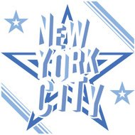 New York City t-shirt Printing design, vector Badge Applique Label