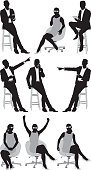 Various actions of businessmen and businesswomen