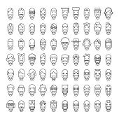 Happy Character People Icons