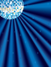 Glitter or Disco Ball with Blue Light Rays